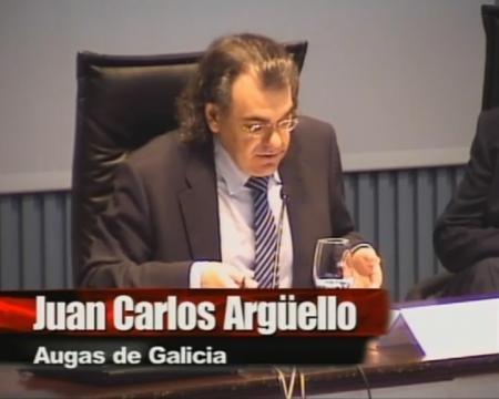 Juan Carlos Argüello Femández, subdirector xeral de Xestión do Dominio Público Hidráulico de Augas de Galicia. - Xornada sobre a Lei 9/2010, do 4 de novembro, de Augas de Galicia